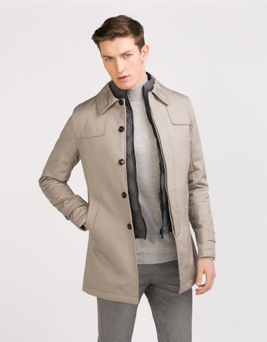 Fabric Trench Coat